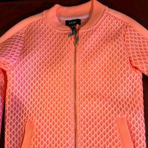 Girls Hot Coral DKNY Jacket